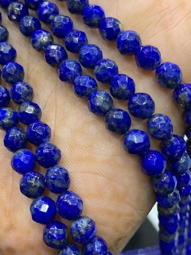 Top quality Natural lapis 6mm round faceted beads,lapis beads,AAA lapis 6mm beads