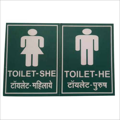 Unisex Toilet Signage