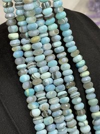 8 inches natural Bio opal rondelle faceted beads,bio opal beads,7-8mm