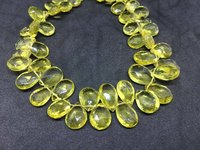 AAA Lemon Topaz (Green Gold) Pear Faceted Beads, 6x9-10x14mm, 11 Inches Strand