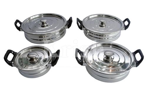 Urli Dish with Bakelite Handle Set- 4/6 Pcs