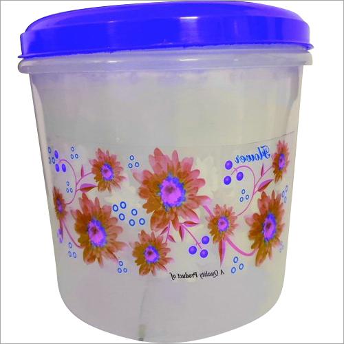 Plastic Round Printed Flora Container