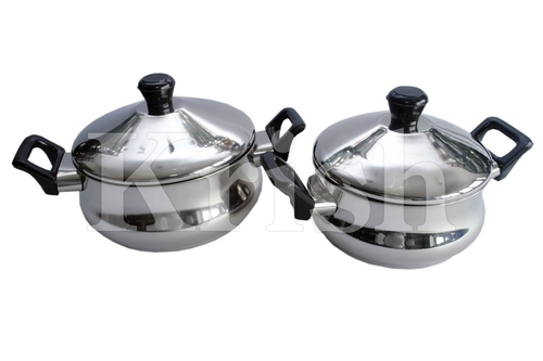 Classic Belly Dish Set with Bakelite Handle- 4 Pcs