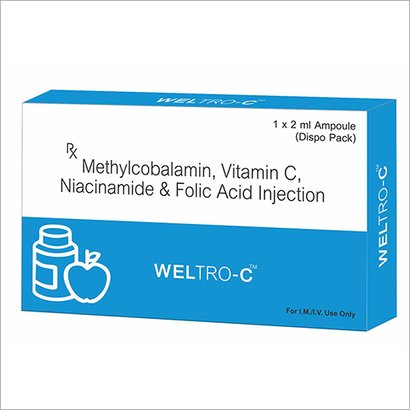 Methylcobalamin Vitamin C Acid Injection Certifications: Who-Gmp