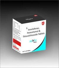 ACECLOFENAC PARACETAMOL & THIOCHOLCHICOSIDE TABLETS