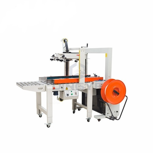 Carton Sealer with Automatic Strapping Machines