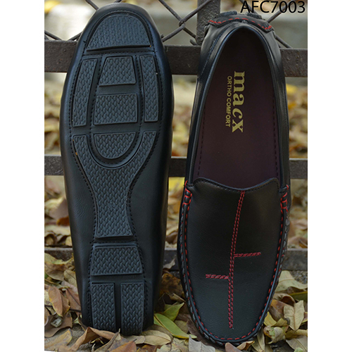 Mens Designer Black Leather Loafers