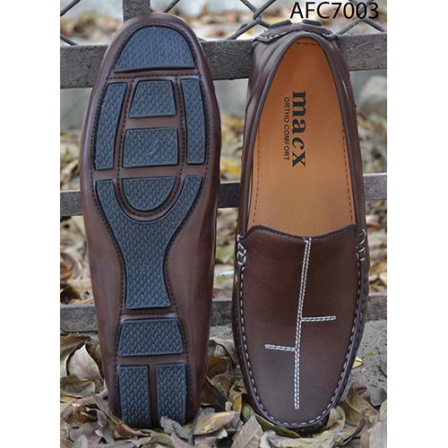 Mens Designer Dark Brown Leather Loafers