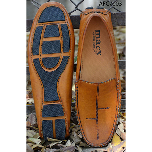 Mens Designer Tan Brown Leather Loafers