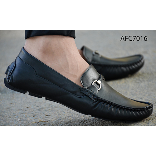 Mens Casual Black Leather Loafers