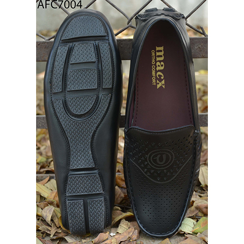 Mens Fancy Black Leather Loafers
