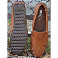 Mens Smart Brown Leather Loafers