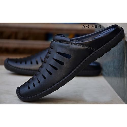 Mens Black Slip On Loafers