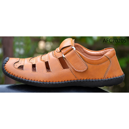 Mens Tan Brown Leather Sandals