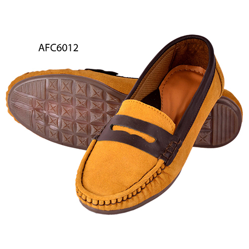 Mens Tan Brown Rough Leather Loafers