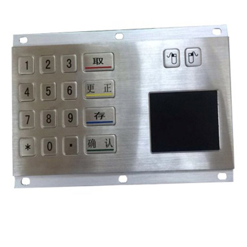 Good touch stainless steel 18 keys waterproof metal keypad with touchpad
