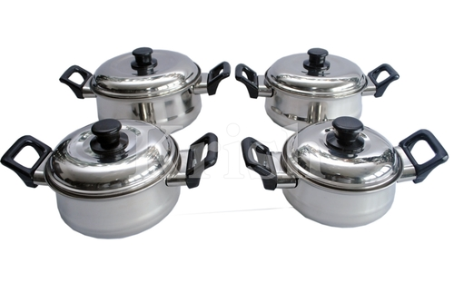 Empire Belly Dish Set with Bakelite Handle-4 pcs