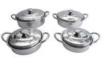 Maharaja Dish Set with Steel Handle- 4 Pcs
