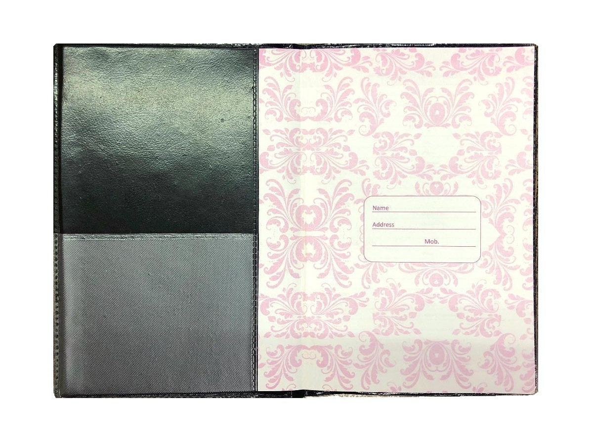 Table Size, Contact Book, Foam Folder (192 Pages)