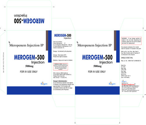 MEROPENAM 500 MG INJECTION