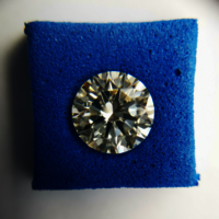 CVD Diamond 1.22ct M VVS2 Round Brilliant Cut IGI Certified Stone