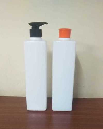 White 500ml Sq.Lotion Bottle