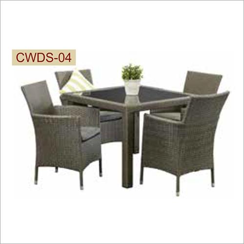 4 Seater Wicker Dining Set