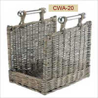 Weaving Modern Wicker Basket