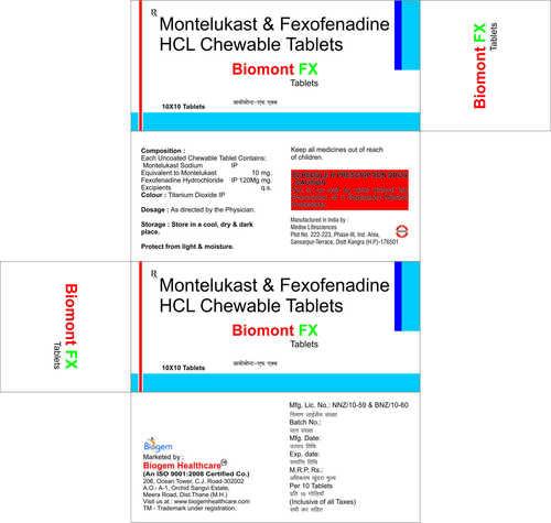 MONTELUKAST +FEXOFENADINE