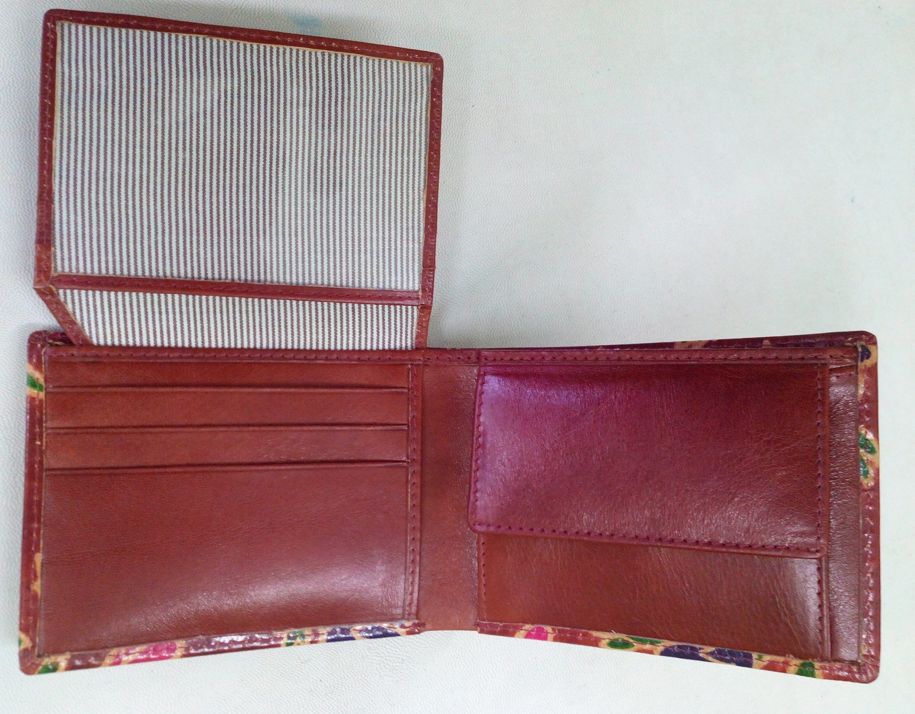 Hand Printed Leather Wallet