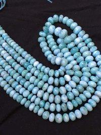 10 inch On sale Beautiful AAA larimar smooth rondelle beads,larimar beads,6-11mm