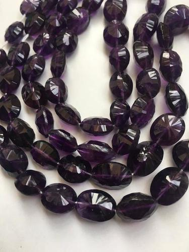 Dark amethyst oval concave cut beads,9/11-10/13mm,amethyst concave cut faceted beads 16 inch