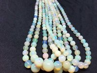 Big Size Ethiopian Opal Plain Round Beads, 5-7.30mm, 17 Inches Strand