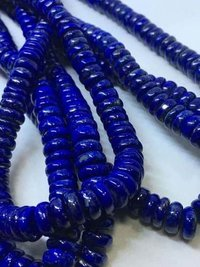 Finest quality AAA 100% Natural lapis disc shape beads,16 inch lapis smooth disc beads 8-10.5mm