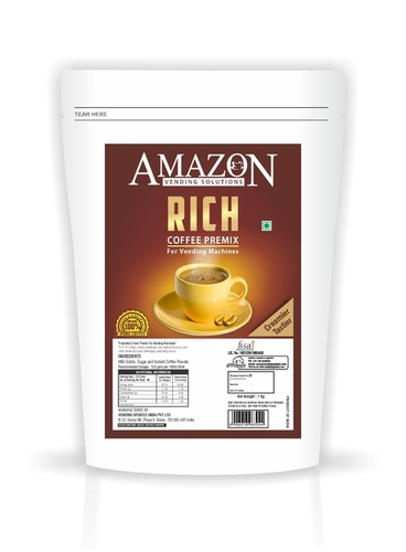 Amazon Rich Coffee Premix 1 Kg Pack for Vending Machine