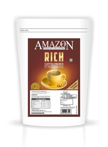 Amazon Rich Coffee Premix 1 Kg Pack for Vending Machine