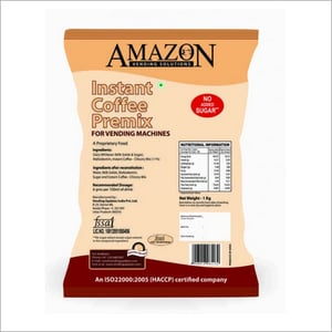 Amazon No Added Sugar Coffee Premix 1 Kg Pack for Vending Machines