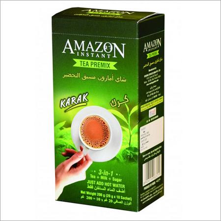 Amazon Instant Tea Premix with Milk in Cardamom Favour 10 Single Serve Sachets 200gm