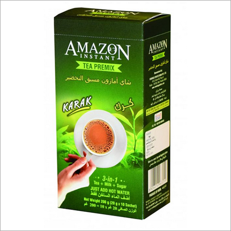 Amazon Instant Tea Premix with Milk in Lemongrass Favour 10 Single Serve Sachets 200gm