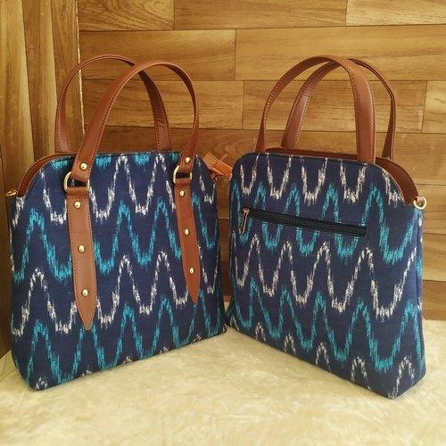 Ladies Hand Bags Ikat Print