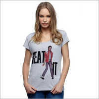 Ladies Cotton Printed T-Shirt