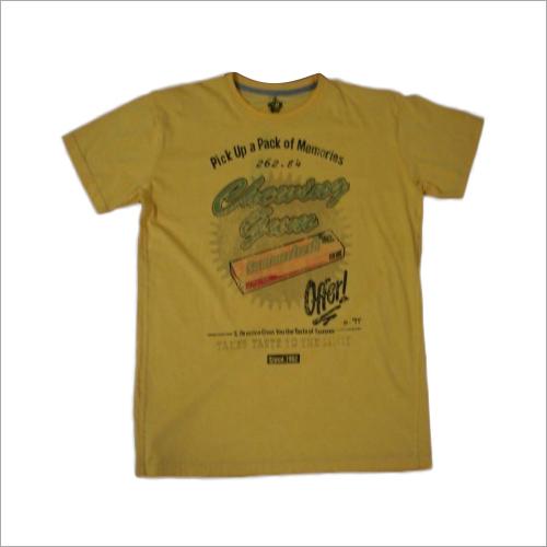 160 gsm Cotton Rubber Print T-Shirt