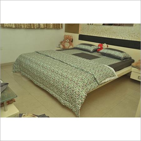 Plain Cotton Bedsheet With Digital Dohar Set