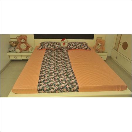 Half N Half Printed Design Bedsheet