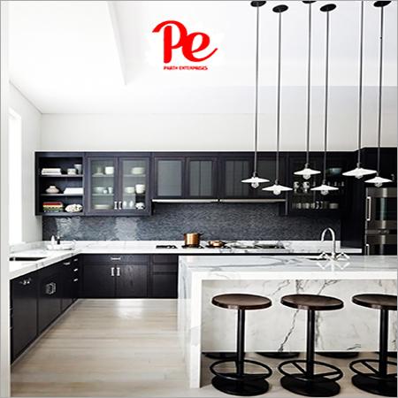 L Shape Modern Modular Kitchen