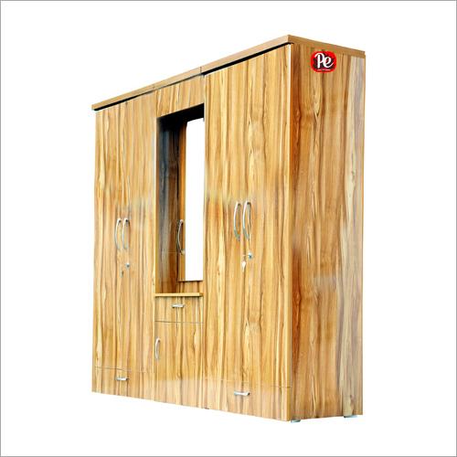 Wooden Double Door Wardrobe With Mirror