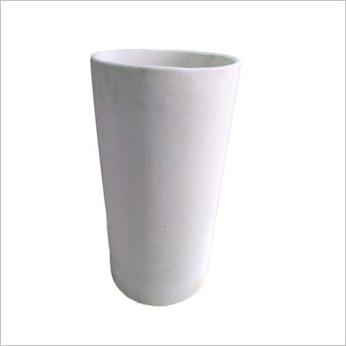 White Cylindrical Pot