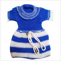Girls Designer Woolen Frock Sweater