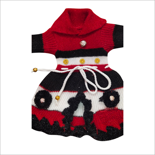 Girl Fancy Woolen Frock Sweater