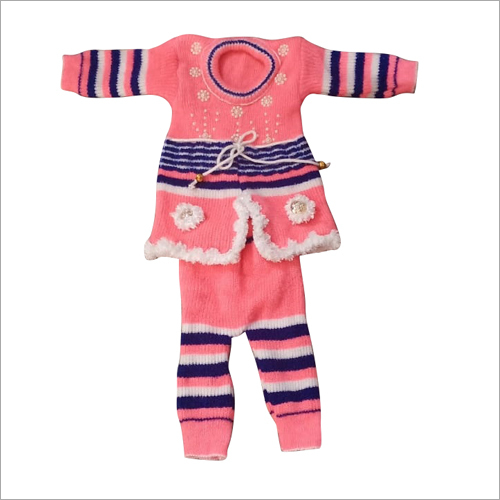 Girls Woolen Fancy Sweater Suit